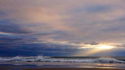 Dramatic Wave Sunrise Poster