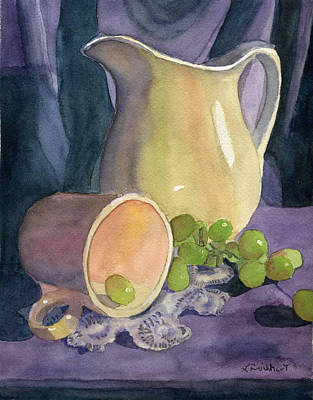 Drapes And Grapes Poster by Lynne Reichhart