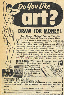 Poster featuring the digital art Draw For Money by Reinvintaged