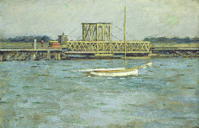 Drawbridge Poster by Theodore Robinson