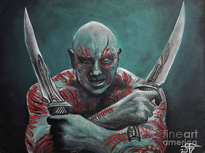 Drax The Destroyer Poster by Tom Carlton