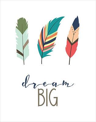 Poster featuring the digital art Dream Big by Jaime Friedman