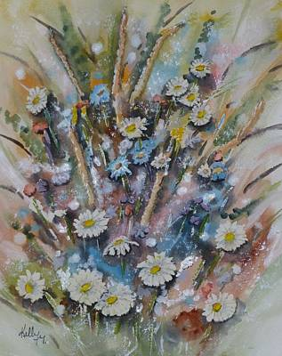 Poster featuring the painting Dream Bouquet by Kelly Mills
