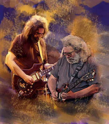 Poster featuring the painting Dream Colors  Jerry Garcia Greatful Dead by Iconic Images Art Gallery David Pucciarelli