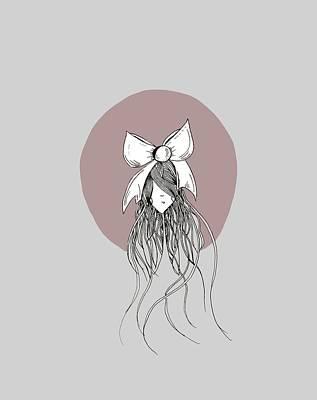Dream Girl Bow Poster by Chandra Rae Fredrickson