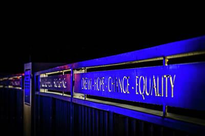 Dream-hope-change-equality Martin Lurther Kin Bridge - Fort Wayne Indiana Poster
