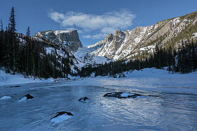 Poster featuring the photograph Dream Lake Morning by Aaron Spong
