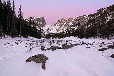 Poster featuring the photograph Dream Lake - Pre Dawn by Aaron Spong
