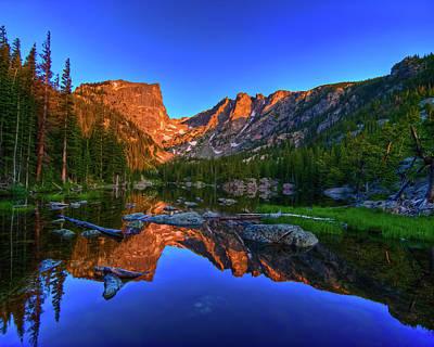 Dream Lake Sunrise Rocky Mountain Natl Park Poster by Harry Strharsky
