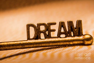 Dream Words Poster by Jorgo Photography - Wall Art Gallery