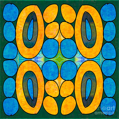 Dreaming In Circles Abstract Hard Candy Art By Omashte Poster by Omaste Witkowski