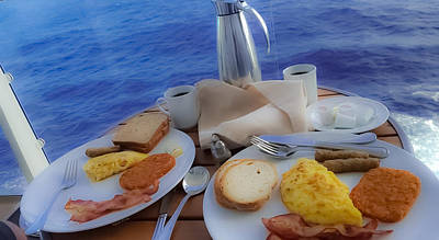 Poster featuring the photograph Dreaming Of Breakfast At Sea by DigiArt Diaries by Vicky B Fuller