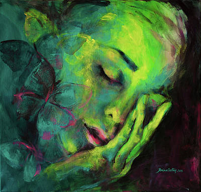 Dreaming Of Butterflies Poster by Dorina Costras