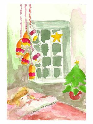 Dreaming Of Santa Poster by Nancy Brennand