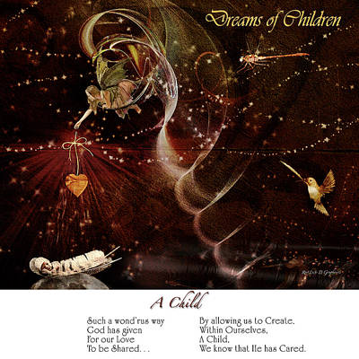 Dreams Of Children Poster by Rhonda Strickland