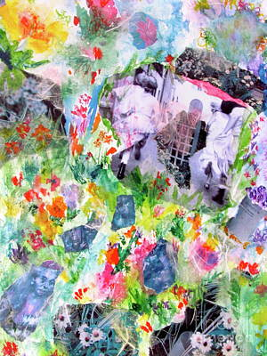 Poster featuring the mixed media Dreams Of Love And Other Fateful Encounters by Beth Saffer