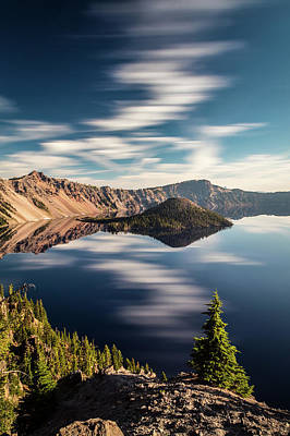 Dreamy And Surreal Crater Lake Poster by Pierre Leclerc Photography