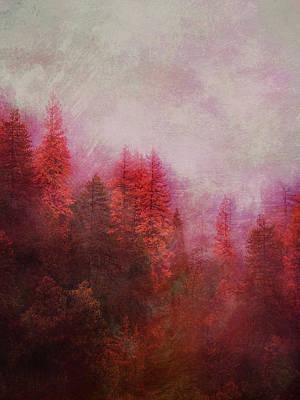 Poster featuring the digital art Dreamy Autumn Forest by Klara Acel