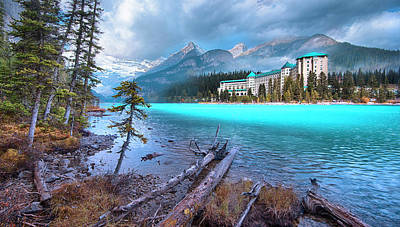 Poster featuring the photograph Dreamy Chateau Lake Louise by John Poon