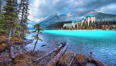Dreamy Chateau Lake Louise Poster