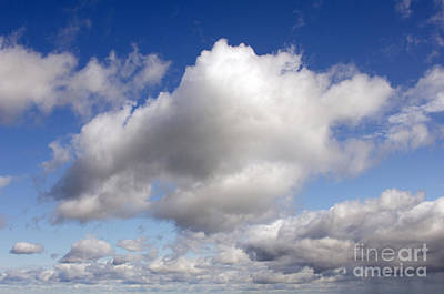Dreamy Clouds Poster by Jennifer Booher