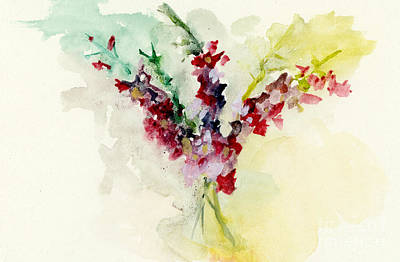 Dreamy Orchid Bouquet Poster