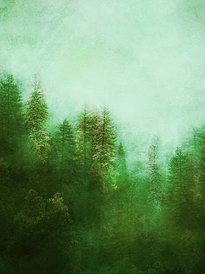 Poster featuring the digital art Dreamy Spring Forest by Klara Acel