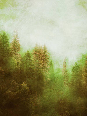 Poster featuring the digital art Dreamy Summer Forest by Klara Acel