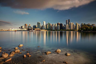 Poster featuring the photograph Dreamy Vancouver Cityscape by Pierre Leclerc Photography
