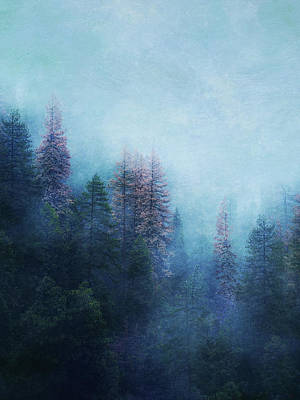 Poster featuring the digital art Dreamy Winter Forest by Klara Acel