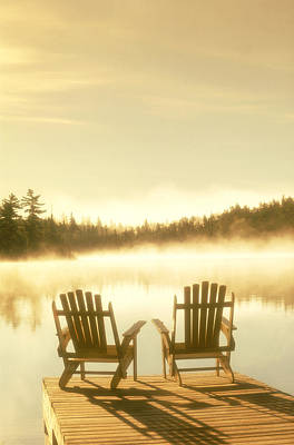 D.reede Chairs On Dock, Whiteshell Pp Poster
