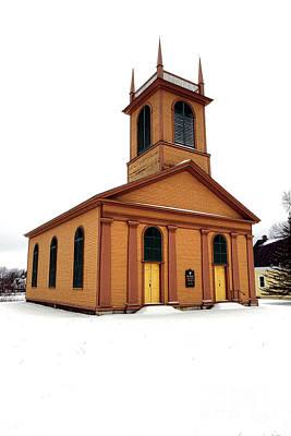 Dresden St John Episcopal Church In Snow Poster