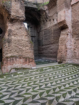 Dressing Room In Baths Of Caracalla In Ancient Rome, Italy Poster