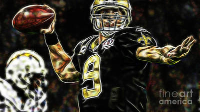Drew Brees Collection Poster by Marvin Blaine