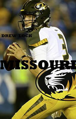 Drew Lock, University Of Missouri, Tigers, Sec Poster
