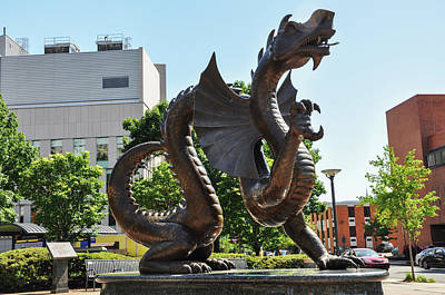 Poster featuring the photograph Drexel University Dragon - Philadelphia Pa by Bill Cannon