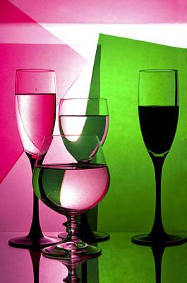 Drink  In Wine Glasses Poster by larisa Fedotova