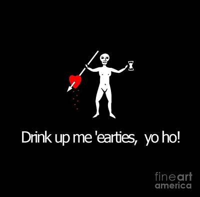 Drink Up Pirate Tee Poster
