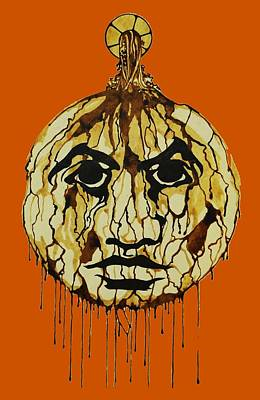 Drip Face Poster by Daniel P Cronin