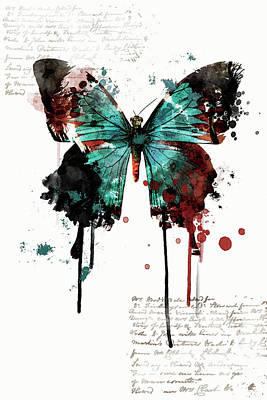 Dripping Butterfly Poster