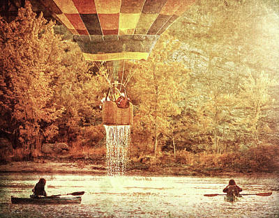 Dripping Wet  Hot Air Balloons Poster by Bob Orsillo