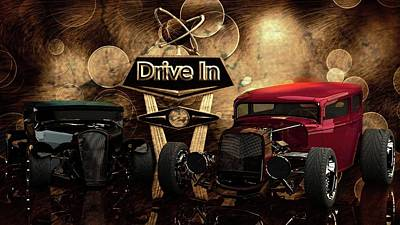 Poster featuring the photograph  Drive In by Louis Ferreira