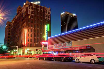 Driving Through Downtown Amarillo Texas  Poster by Gregory Ballos