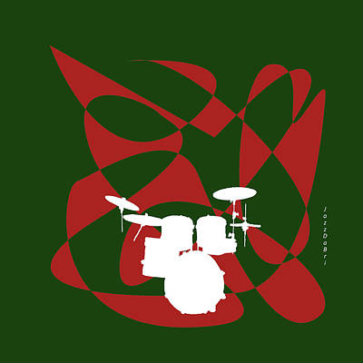 Drums In Green Strife Poster by David Bridburg