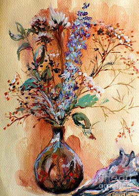 Dry Flowers Poster by Linda Shackelford