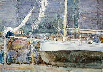 Drydock, Gloucester Poster by Childe Hassam