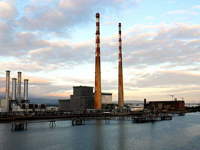Dublin's Poolbeg Chimneys Poster