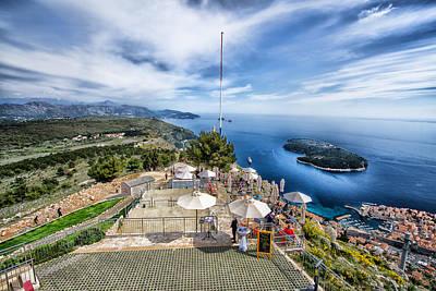 Dubrovnik Croatia - Lovely Cafe Up On Srd Hill Poster