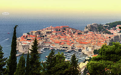 Dubrovnik Old City On The Adriatic Sea, South Dalmatia Region, C Poster