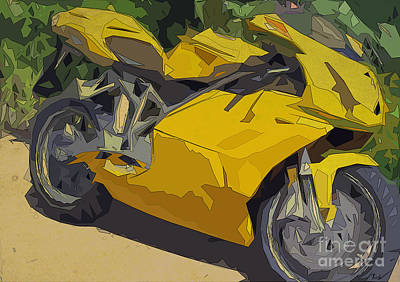 Ducati 749 Men's Cave Poster by Pablo Franchi